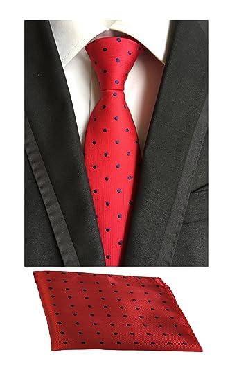 MOHSLEE Mens Polka Dots Wedding Suit Tie Handky Silk Necktie /& Pocket Square Set