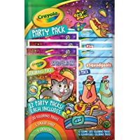 Crayola Coloring Book Party Favors, Cosmic Cats & Squad Goals, 12 Coloring Packs, Gift