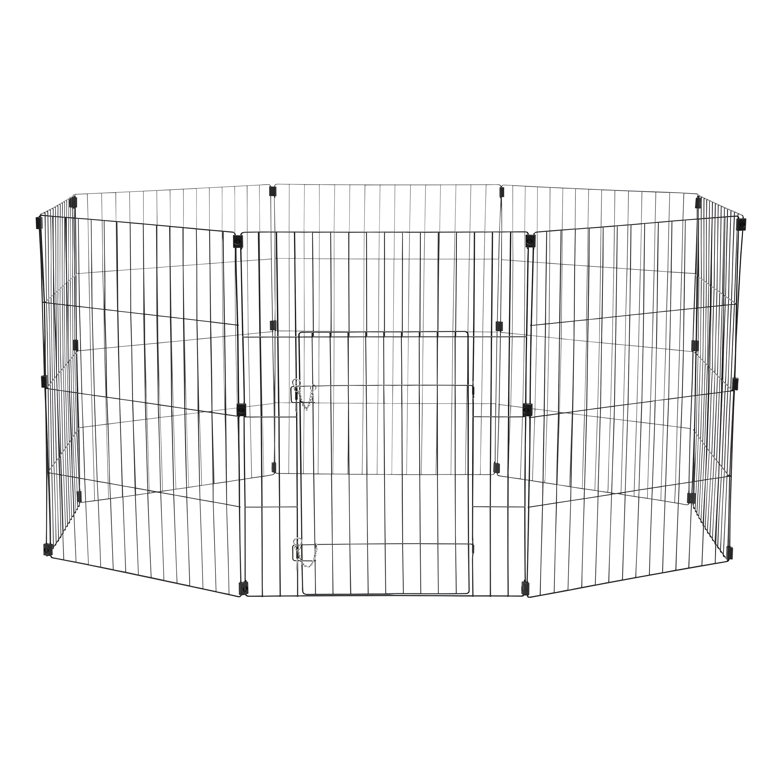 IRIS 30'' Wire Pet Pen, Black