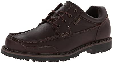 Rockport Men's Gentlemen Boot WP Moc Oxford Rain Shoe, Cocoa, 7 W US