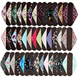 3 Pieces 14 Inch Overnight Charcoal Bamboo Reusable Mama Cloth/Menstrual Pads - You Choose 3 From 17 Designs and Send Message to Me