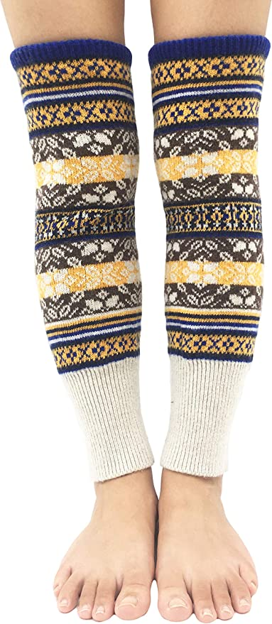 Handmade Yoga Socks Leg Warmers 100/% Cotton Crocheted Brown Tweed Ticklebebe Original