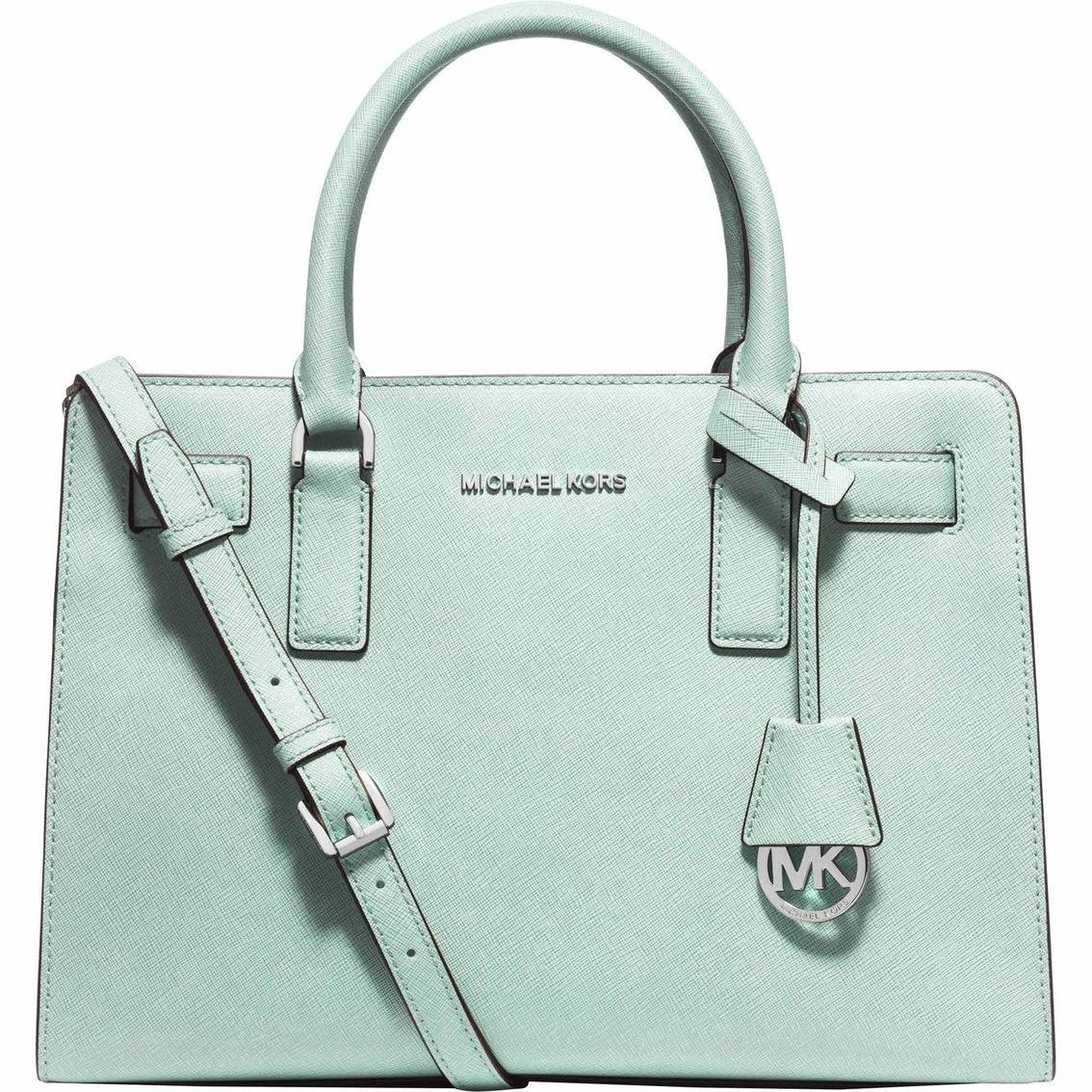 d5eb4ae21d3203 Amazon.com: Michael Kors Dillon East West Saffiano Leather Satchel Bag,  Celadon: Shoes