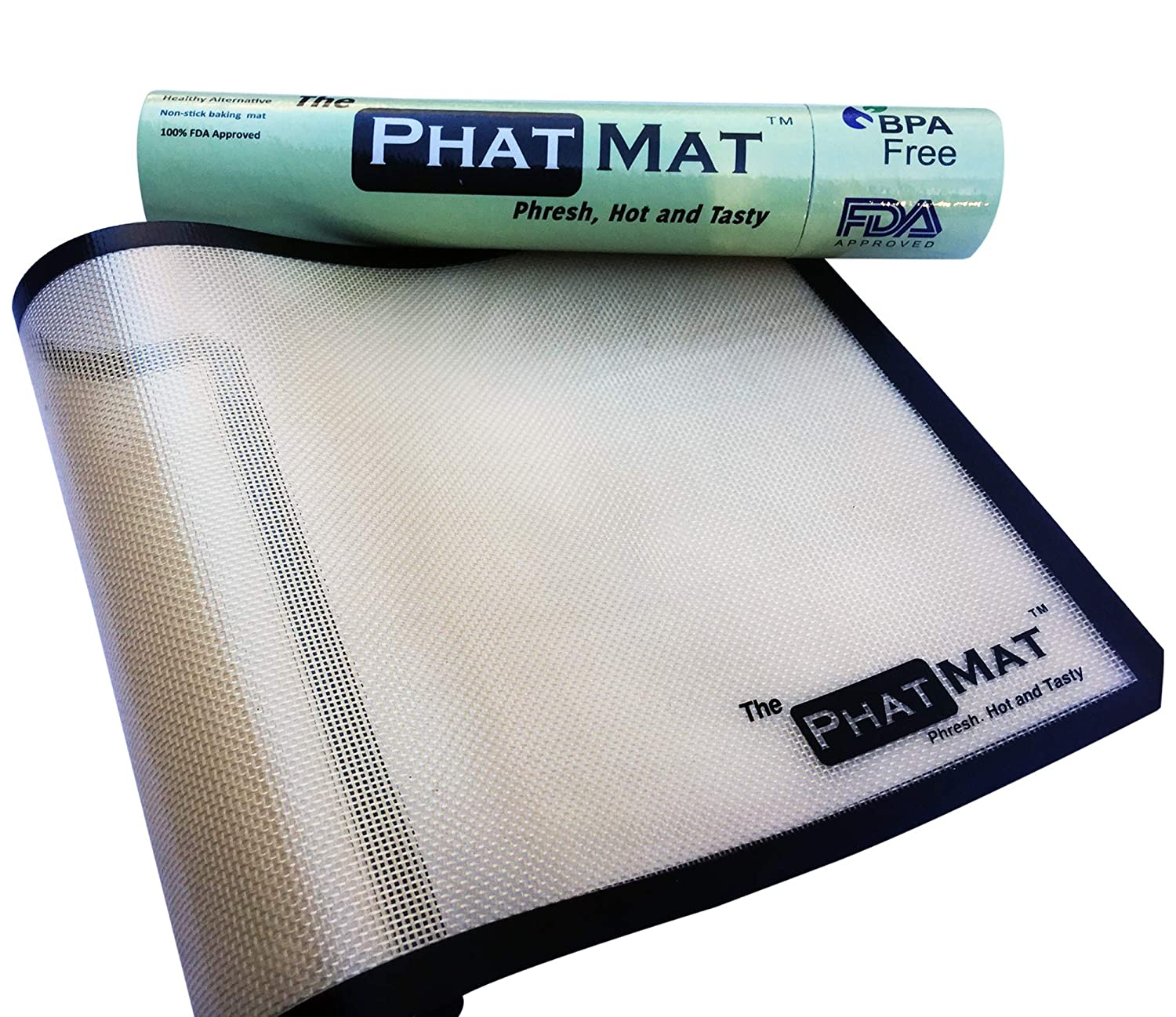 PhatMat Silicone Baking Mat for Healthy Cooking from The Half Sheet Mat, Saves Time & Money