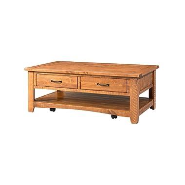Martin Svensson Home 890127 Rustic Coffee Table, Honey Tobacco
