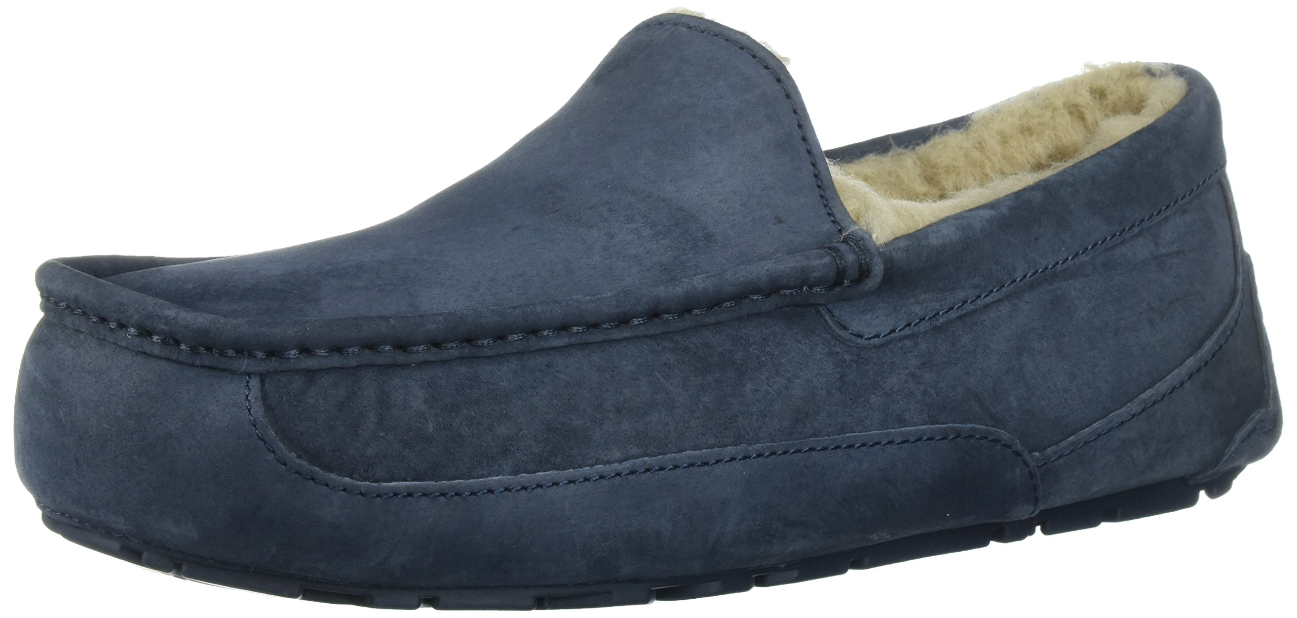 Ugg Men's Ascot Moccasin, NEW NAVY/NEW NAVY, 9 M US by UGG