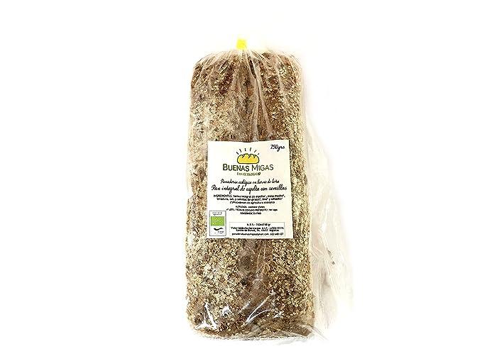 Pan ecológico artesanal con masa madre en horno de leña. Sabor tradicional exquisito. Envío GRATIS 24h. (Pan integral de espelta con semillas 750gr ...