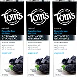 Tom's of Maine Activated Charcoal Toothpaste, Charcoal Toothpaste, Fluoride Free Toothpaste, Peppermint, 4.7 Ounce, 3…
