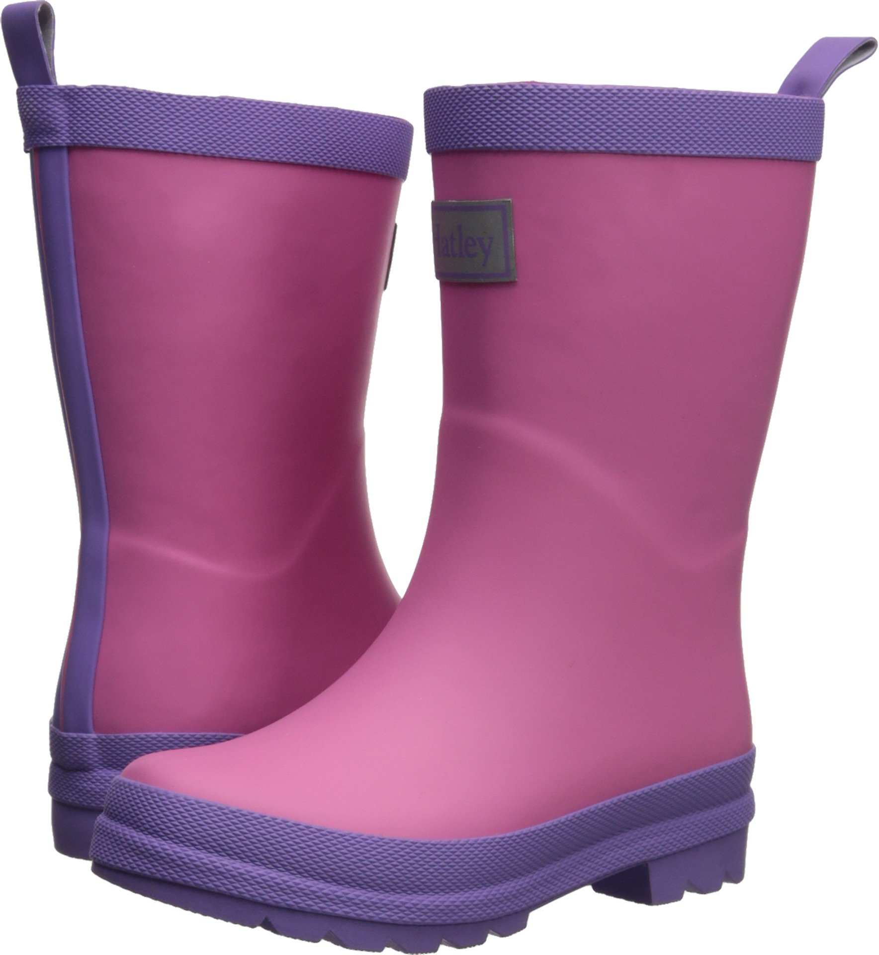 Hatley Classic Rain Boots, Pink and Purple, 11 M US Little Kid