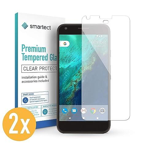 smartect 2X Protector de Pantalla de Cristal Templado para Google Pixel XL Lámina Protectora Ultrafina de