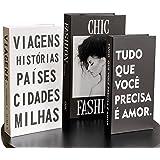 Conjunto 3 Caixas Porta Objetos/Livro Decorativo (Fashion)