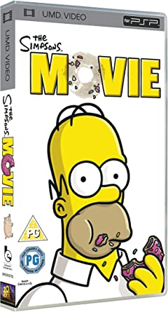 The Simpsons Movie Umd Mini For Psp Amazon Co Uk Dvd Blu Ray