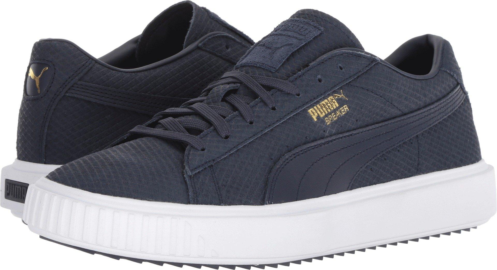 PUMA Men's Breaker Suede Sneaker,Peacoat,10.5