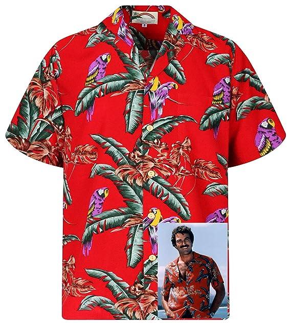 b8abc8e1 Original Tom Selleck Magnum, P.I. Hawaiian Shirt made in Hawaii, Red ...
