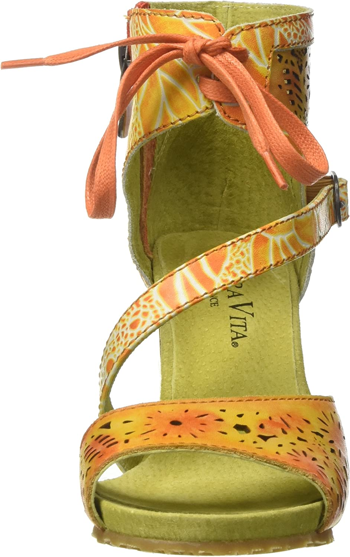 Laura Vita Bernie 178, Sandalia Con Pulsera Para Mujer Naranja
