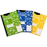 """Amazon Basics Primary Composition 3/8"""" Ruled - 3/8"""" Skip Space, Grade 3, 50-Sheet, 9.75"""" x 7.5"""", 3-Pack"""