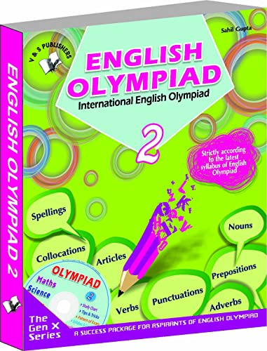 International English Olympiad - Class 2  with CD: Essential Principles with Examples; Mcqs and Solutions; Model Test Papers
