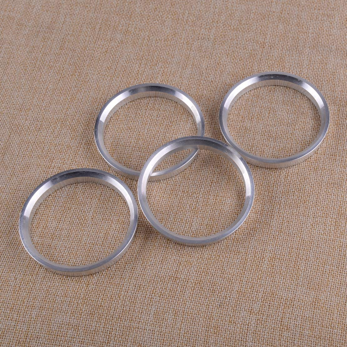 CITALL 4Pcs Aluminum Alloy Wheel Spacer Hub Centric Rings 71.5mm OD to 64.1mm ID