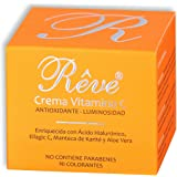 REVE Crema Facial Hialurónico y Vitamina C - Antioxidante, Luminosidad, Nutrición, Hidratación - Hombre y Mujer, Día y…