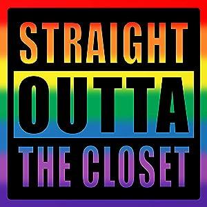Straight Outta The Closet Rainbow Warrior Sticker - Gay Pride Premium Vinyl Decal 3 X 3