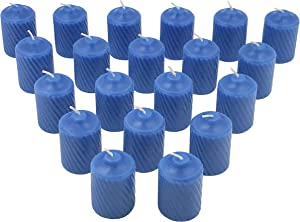 General Wax 15 Hour Scented Votive Candles 20 Candles Per Box with Texured Finish (MediumBlue Ocean Mist Scent)