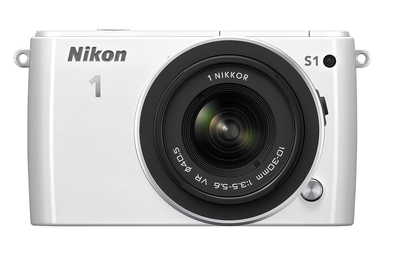 【超特価sale開催】 Nikon ホワイト ミラーレス一眼 Nikon 1 S1 標準ズームレンズキット1 NIKKOR VR 10-30mm 1 VR f/3.5-5.6付属 ホワイト N1S1HLKWH ホワイト B00AY7F17G, 海展貿易shop:bd306292 --- arianechie.dominiotemporario.com