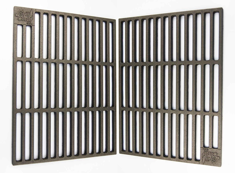 2 pieza parrillas hierro fundido 41, 5 x 27, 5 cm varilla de ...