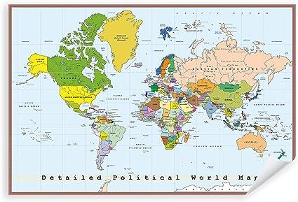 Cartina Mondo Politica Con Capitali.Cartina Spagna Regioni E Capitali