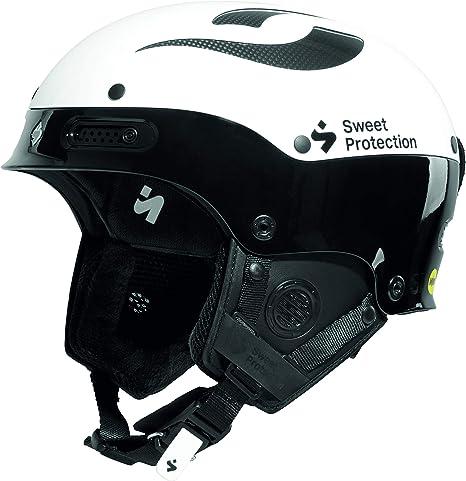 Sweet Protection Casque Mixte Adulte Trooper II SL MIPS Ski Snowboard Gloss White//Gloss Black SM