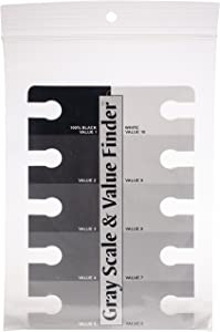 Color Wheel 245557 3505 Gray Scale and Value Finder, Black/White