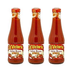 La Victoria Sauce Hot Salsa Brava, 8 Ounce (Pack of 3)