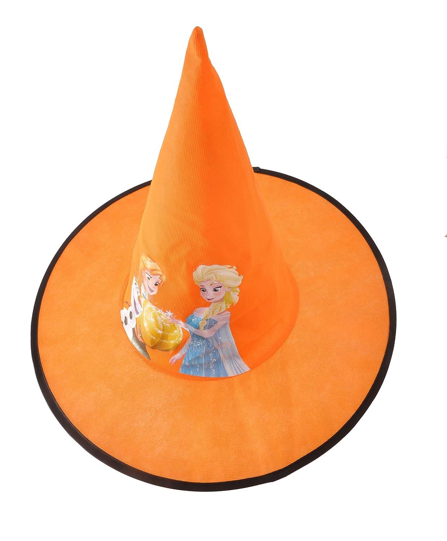 Ciao 31353 Chapeau c/ône de sorci/ère en tissu Basic Disney La Reine des Neiges Halloween Accessoires pour enfants taille unique jaune