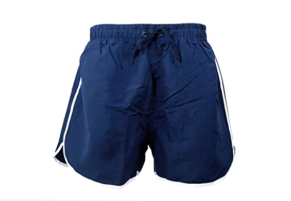 3e1e026f46 Mens Funky Retro Bright Vibrant Colour Mesh Lined Swim Shorts Swimming  Beach Holiday Trunks Shorts Navy