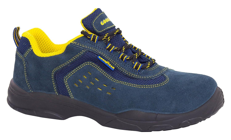 Goodyear G138843C - Botas (piel serraje, talla 43) color azul: Amazon.es: Bricolaje y herramientas