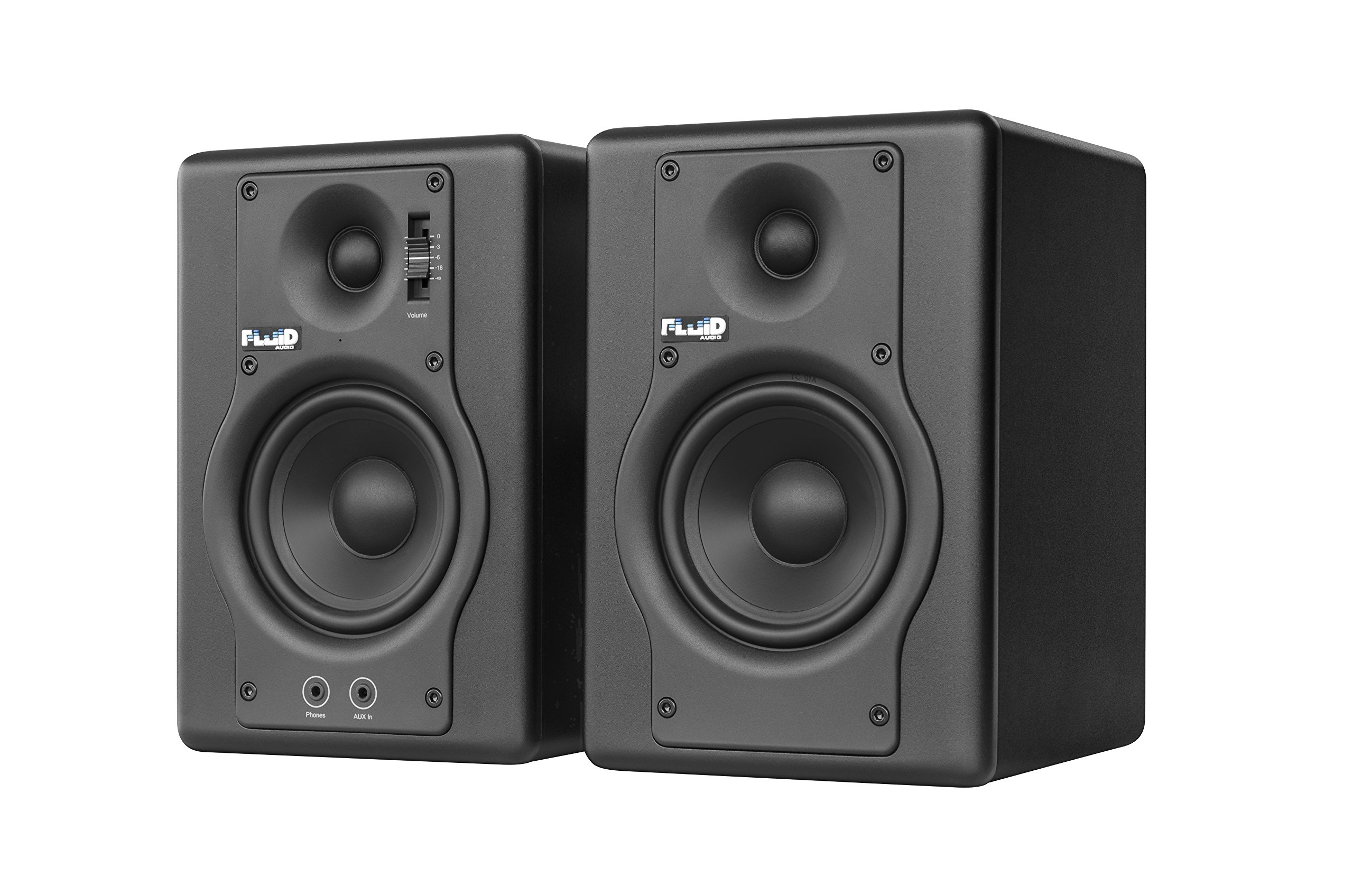 Fluid Audio F4 (Pair) - 4'' Active Studio Reference Monitors, Black