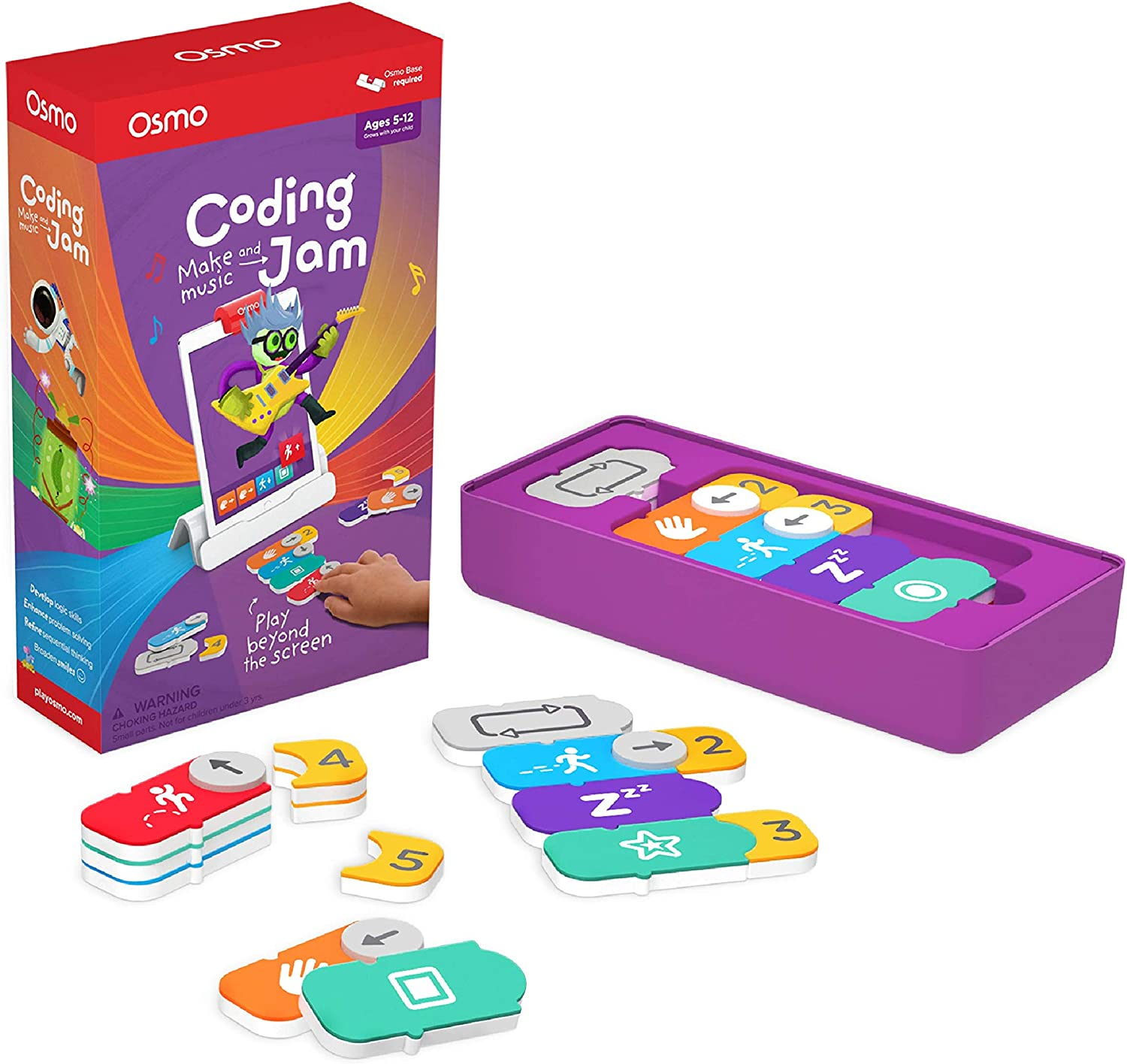 Osmo - Coding Jam - Ages 6-12 - Music Creation, Coding & Problem Solving - For iPad or Fire Tablet (Osmo Base Required)