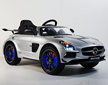 kids car power wheels mercedes amg licensed with parent remote control 12v battery