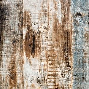 """Vintage Wood Wallpaper Self Adhesive Wood Peel and Stick Wallpaper Wood Plank Wallpaper Rustic Wood Wallpaper Reclaimed Wood Wallpaper Decorative Faux Wallpaper Roll 17.7""""x78.7"""""""