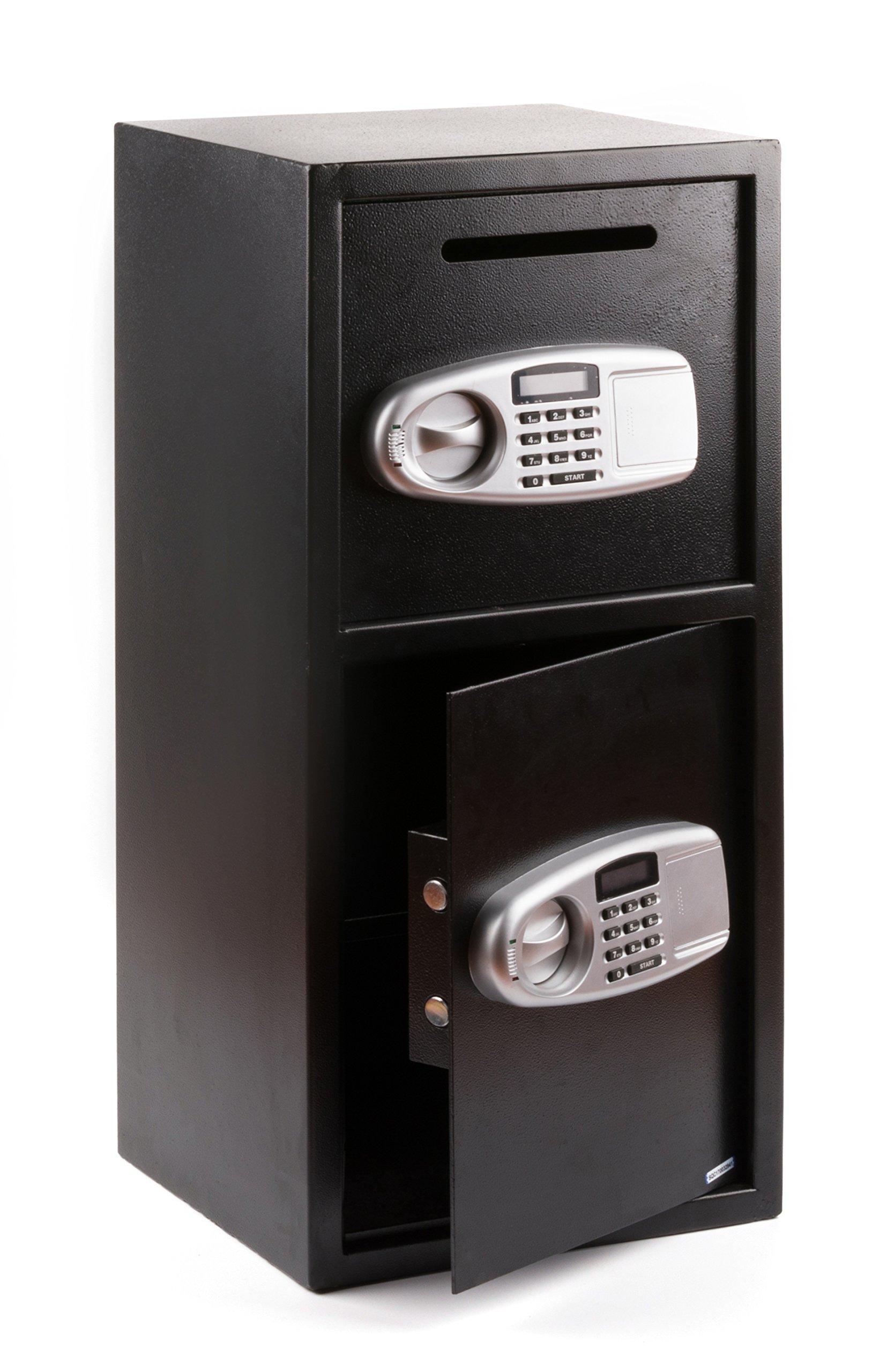 Windaze Large Safe Box Double Door Digital Depository Drop Box Security Lock for Gun Cash Valuable Storage, 3.04 Cubic Feet