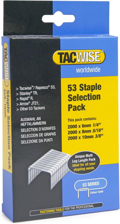 Tacwise Agrafes de Type 53 Bo/îte de 5 000 10 mm Galvanis/ées