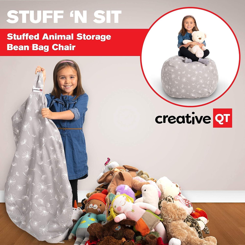 Creative QT Poltrona Sacco da Riempire con Peluche Organizzazione Riempi /& Siediti per Stoccaggio Giocattoli Bambini 33, Dente di Leone Disponibile in Varie Dimensioni e Colori