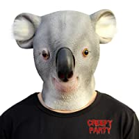 CreepyParty Deluxe Novelty Halloween Costume Party Latex Animal Head Mask Koala