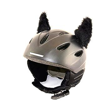 f/ür Kinder und Erwachsene HELMDEKO der HINGUCKER Kinder-Helm Helm-Ohren Tierohren f/ür den Skihelm Snowboardhelm Kinder-Skihelm oder Motorradhelm verwandelt den Helm in EIN EINZELST/ÜCK