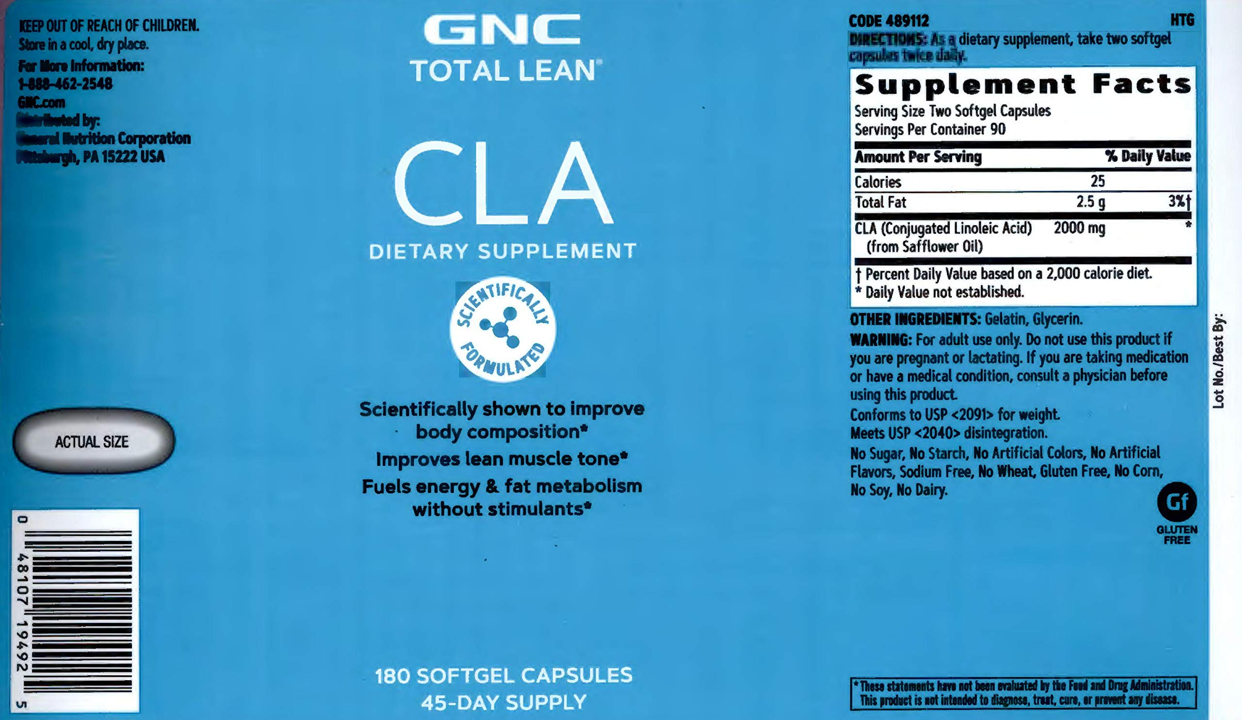 GNC Total Lean CLA - Twin Pack by GNC (Image #3)