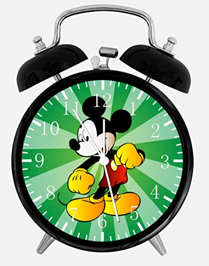 Disney Mickey Mouse Alarm Desk Clock 3.75u0026quot; Home Or Office Decor E103  Nice ...
