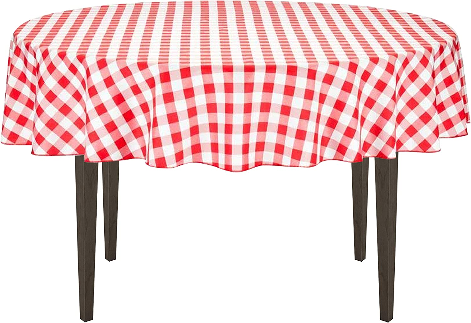 """Rans Red Gingham Check Tablecloth Cloth 150x230cm 91x60/"""" Too Quality Cotton"""
