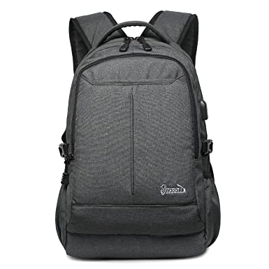 80b0c7a69e Amazon.com  Zebella Laptop Backpack Waterproof Bookbag with USB Charging  Port  Clothing