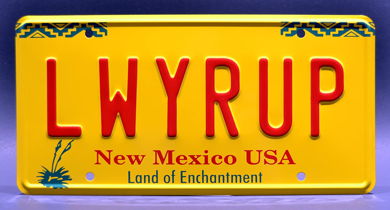 Metal Stamped License Plates Celebrity Machines Better Call Saul PLAYUH LWYRUP