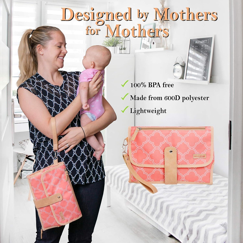 Amazon.com: Cojín portátil para pañales de bebé, cambiador ...