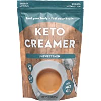 Keto Creamer with MCT Oil for Tea or Coffee. Get into Ketosis, Enhance Performance & Mental Focus .Vegan & Keto diet friendly. Dairy Free Super Creamer. (Unsweetened)